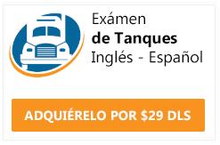 examen cdl endorsement tanques ingles y español