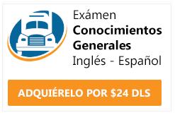 examen cdl conocimientos generales ingles y español 1