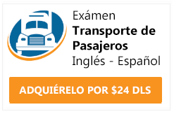 examen cdl endorsement transporte de pasajeros
